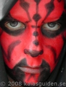 darth maul ansiktsm�lning